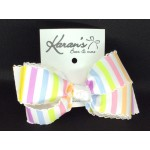 Pastel Stripes Bow - 4 inch