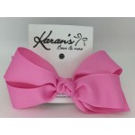 Pixie Pink Grosgrain Bow - 5 Inch