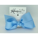 312 Blue Grosgrain Bow - 5 Inch