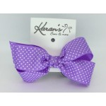 Lavender Swiss Dots Bow - 4 inch