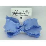 Blue Bird Double Ruffle Bow - 4 Inch