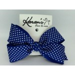 Royal - Swiss Dots Bow - 5 inch