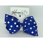Royal - Polka Dots Bow - 5 inch