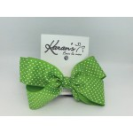 Apple Green Swiss Grosgrain Bow - 4 Inch