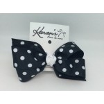 Black Polka Dots Bow - 4 Inch