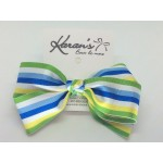 Apple Stripes Bow - 5 inch