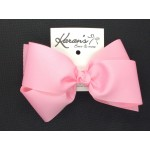 150 Pink Grosgrain Bow - 7 Inch