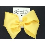 Banana Grosgrain Bow - 6 Inch