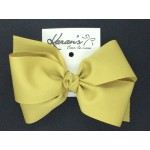 Athletic Gold Grosgrain Bow - 6 Inch