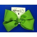 Apple Green Grosgrain Bow - 6 Inch
