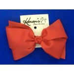 Bright Red Grosgrain Bow - 7 Inch