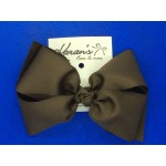 Brown Grosgrain Bow - 7 Inch