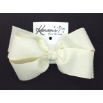 Antique White Grosgrain Bow - 6 Inch