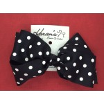 Black Polka Dots Bow - 6 Inch